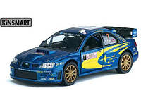 Машина металл KINSMART KT5328W 96шт4 Subaru Impreza WRC 2007, в коробке 1687,5см