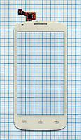Тачскрин сенсорное стекло для Fly IQ4406 Era Nano 6 white