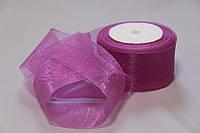 Лента органза 5см №181 фиолет