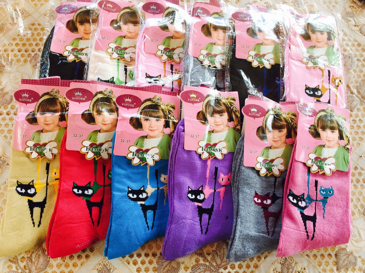 """Шкарпетки для дівчаток """"Модна кішка"""" 32-37"""