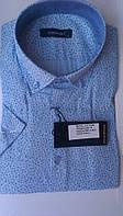 Мужская рубашка спорт DERGI с коротким рукавом приталенная код 7045-2