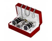 Роскошный стильный бинокль 3х25 (black) театрального типа, лёгкий, небольших размеров, фото 1