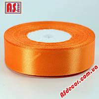 Лента 2,5 см атласная оранжевая