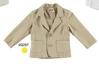 Нарядное (лето) пиджак однобортный, два кармана мал. беж 97 % хлопок,  3 % эластан 4Q287/00 iDO, Италия 92см