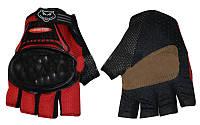 Вело-мото перчатки текстильные BC-360 (протектор-усилен, р-р M-XL)