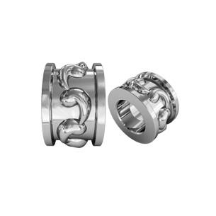 Бусина серебряная Шарм с Вензелями 610040