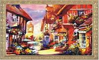 "Картина O98 по номерам ""Весенний город"" 40х50см, краски-акрил, кисть-3шт"