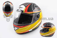 "Шлем-интеграл   ""KOJI""   (mod:550) (premium class) (size:XL, черно-желтый)"