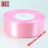 Лента 2,5 см атласная розовая