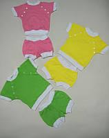 Комплект ясельный для мальчика, для девочки - футболка и шорты, интерлок, р.р.20-26.