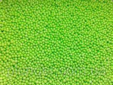 Посыпка сахарная для кондитерских изделий Нонпарель светло-зеленая, 100 г