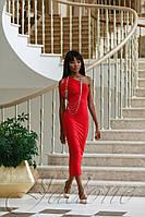 Женское романтическое платье Делли красное