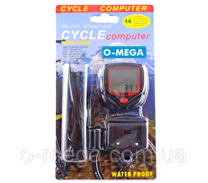 Велокомпьютер проводной SB-318 спидометр часы