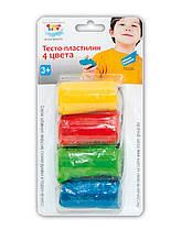 Набор для детского творчества Тесто пластилин 4 цвета