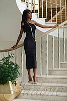 Женское романтическое платье Делли черное