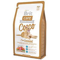 Brit Care COCCO Gourmand Гипоаллергенный корм для кошек с уткой и лососем 7кг