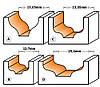 Фреза CMT для гравировки профильная D25,4-d9,5-l9,5-R3,2-L49-d12