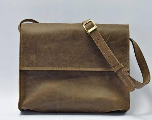 Стильная женская сумка через плече из натуральной кожи GBAGS B026 коричневый