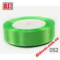 Лента 2,5 см атласная светло-зеленая