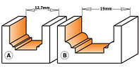 Фреза CMT для гравировки профильная D12,7-d8,4-l12,7-R1,2-L50,8-d6