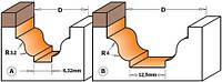 Фреза CMT для гравировки профильная с верхним подшипником D19-l12,3-R3,2-L54-d6
