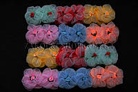 Банты для волос на резинке; диаметр: 8 см, 24 штуки в упаковке