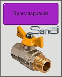 """Кран кульовий для газу 1/2"""" ВН SANDI PLUS (метелик)"""