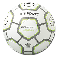 Мяч футбольный Uhlsport Tri Concept Series Infinity Hardground white/green