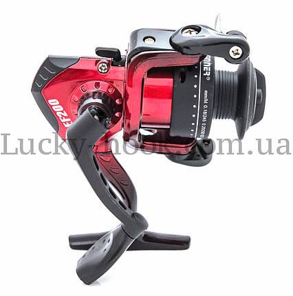 Катушка безынерционная для удочки красная Winner EF200 4b, фото 2