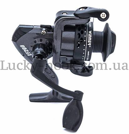 Катушка безынерционная для удочки черная Winner EF200 4b, фото 2