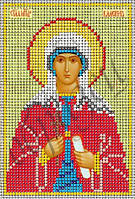 Схема для вышивания бисером икона Св. Вмч. Валентина КМИ 5109