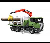 Игрушка Bruder Лесовоз Scania с портативным краном и брёвнами  1:16 (03524)  , фото 1