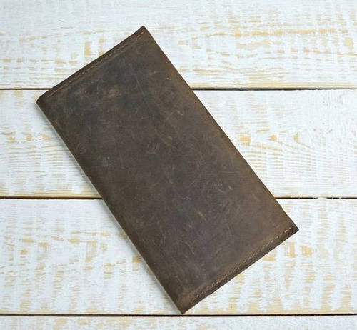 Современное портмоне-кошелек из натуральной кожи GBAGS W007 коричневый
