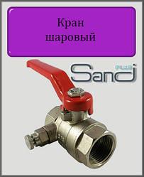 """Кран кульовий з клапаном Маєвського 1/2"""" ВВ SANDI PLUS"""