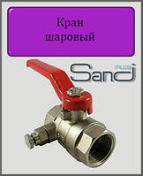 """Кран шаровый с клапаном Маевского 3/4"""" ВВ SANDI PLUS"""