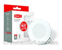 Светильник точечный светодиодный MAXUS (1-SDL-002-01) 4W 4100K