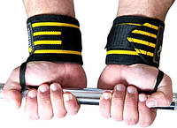 OLIMP Эластичные бинты для надежной фиксации кисти при хвате грифа Hardcore Wrist Wrap