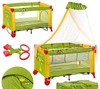 Манеж-кровать с балдахином