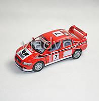 Машинка Mitsubishi Lancer Evolution метал 1:36 красная