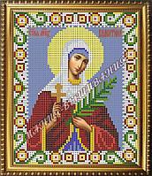 Схема для вышивания бисером Икона Святая мученица Валентина