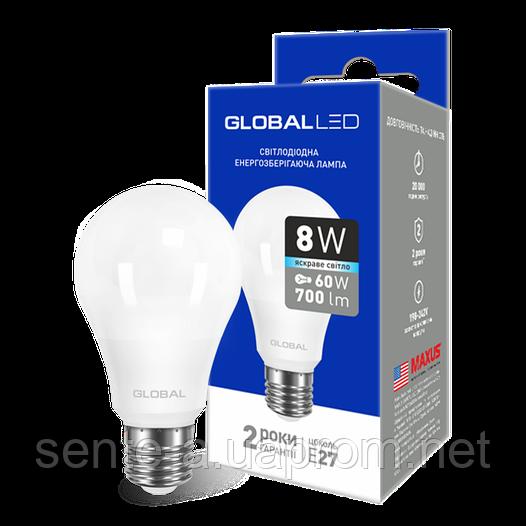 Светодиодная лампа (1-GBL-162-02) A60  8 W 4100К E27 220V AL GLOBAL