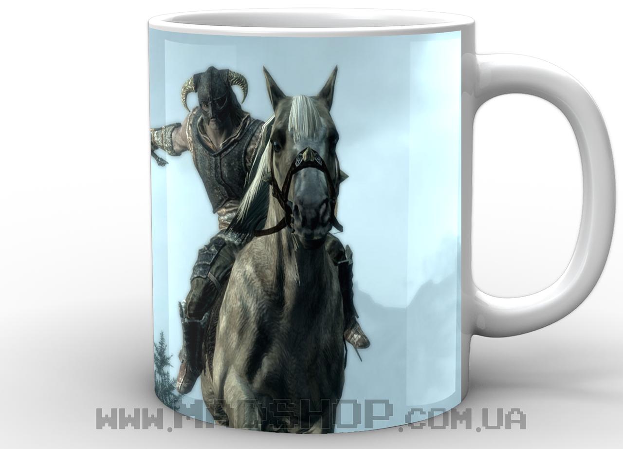 Кружка Skyrim Довакин на коне