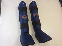 Защита голеностопа усиленная большого размера №3 кож/винил синяя Boxing