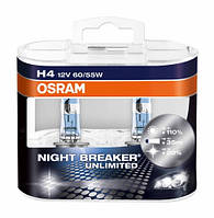 Лампа галогеновая H4 12в60/55вт P43t Osram NIGHT BREAKER UNLIMITED +110% (2шт.)  64193NBUBOX