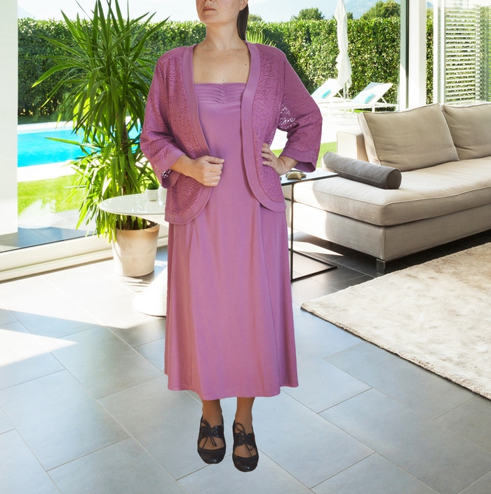 Костюм-двійка: плаття з жакетом Сільвія