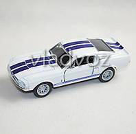 Машинка Shelby GT 500 метал 1:32 белая