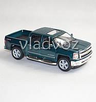 Машинка Chevrolet Silverado метал 1:32 зелёная