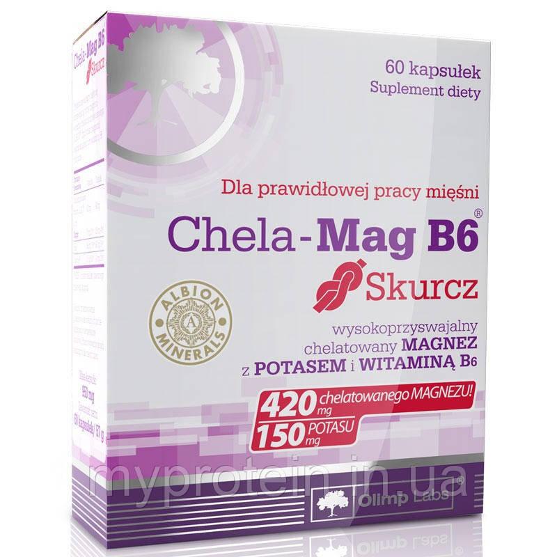 """Минерал магния, витамин B6 Chela-Mag B6 Skurcz (60 caps) -  Интернет - магазин """"MyProtein"""" в Ржищеве"""