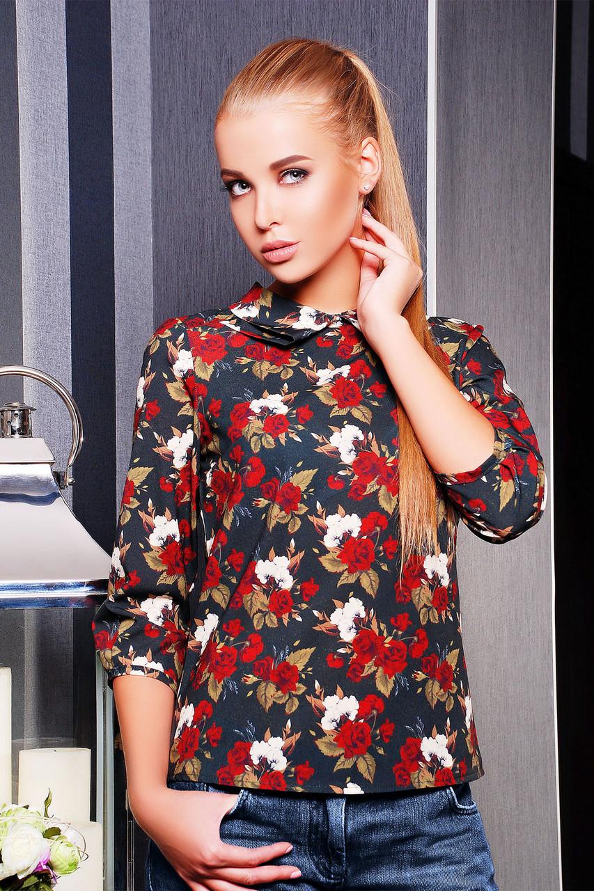 Блузка женская роза красная  - супермаркет матадор  в Киеве
