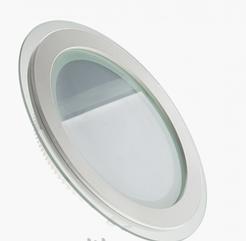 Светильник светодиодный 18W (4000K) круглый со стеклом Glass Rim